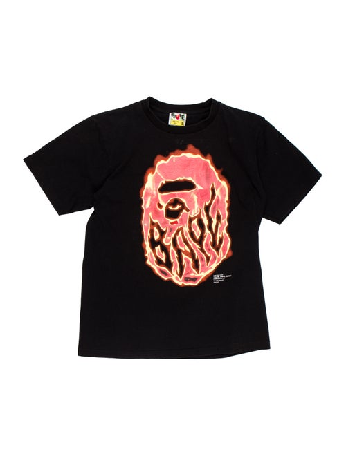 01ed6d8e A Bathing Ape 'Burn Bape Burn'T-Shirt - Clothing - WBATP20520 | The ...