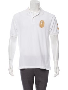 603c730a A Bathing Ape. Logo-Embroidered Polo Shirt