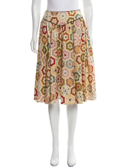 Batsheva Printed Midi Length Skirt