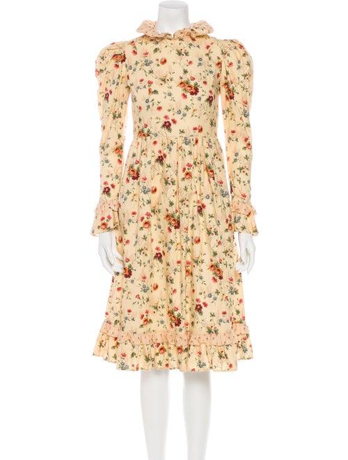 Batsheva Floral Print Knee-Length Dress