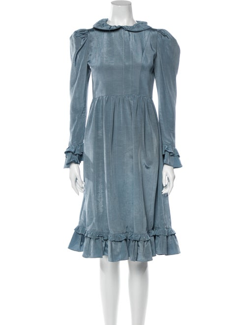 Batsheva Midi Length Dress Blue