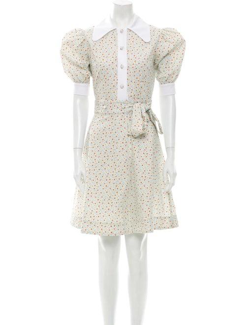 Batsheva Floral Print Mini Dress