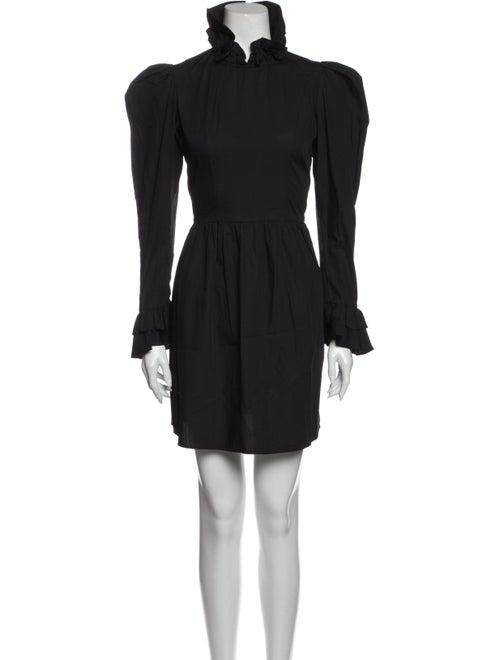 Batsheva Spring Prairie Mini Dress Black