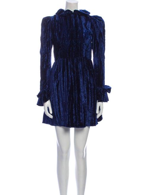 Batsheva Printed Mini Dress Blue