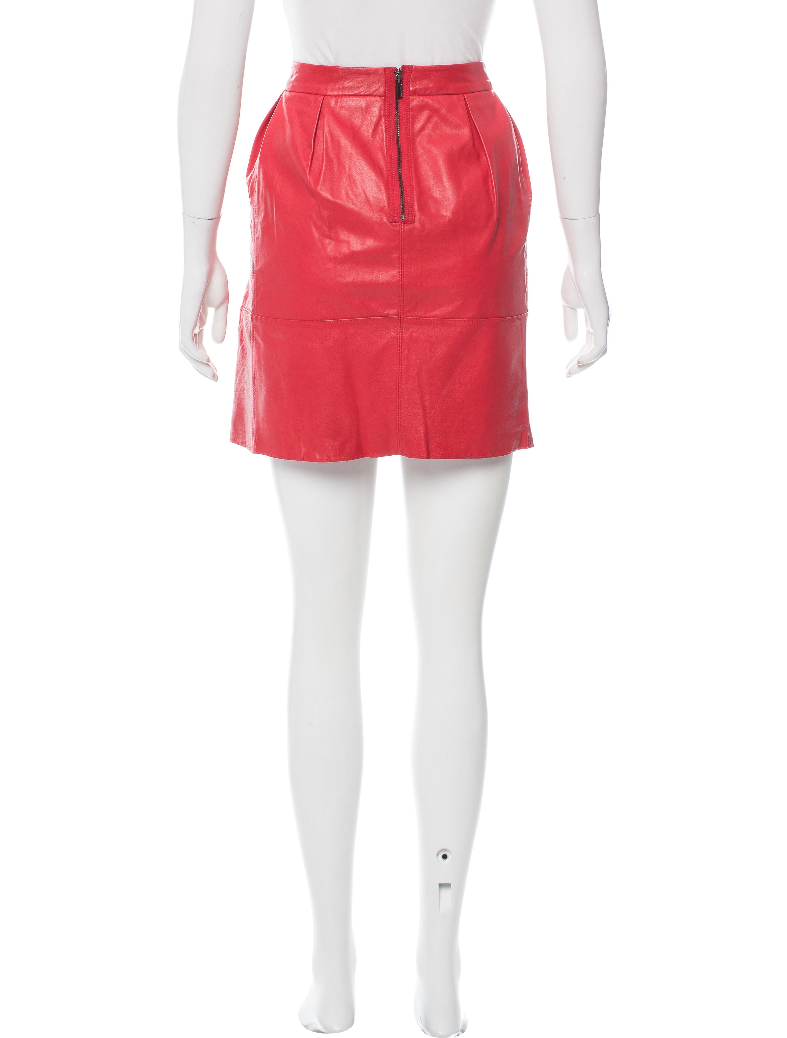 bcbg max azria mimi leather skirt w tags clothing