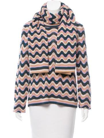 BCBG Max Azria Chevron Crochet Sweater w/ Tags None