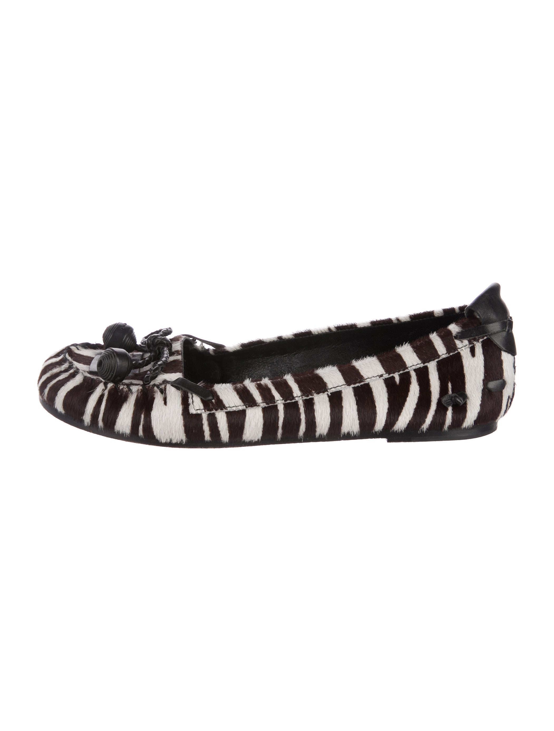 BCBG Max Azria Ponyhair Round-Toe Flats free shipping for nice find great cheap online supply cheap online sale sast ci2Ko