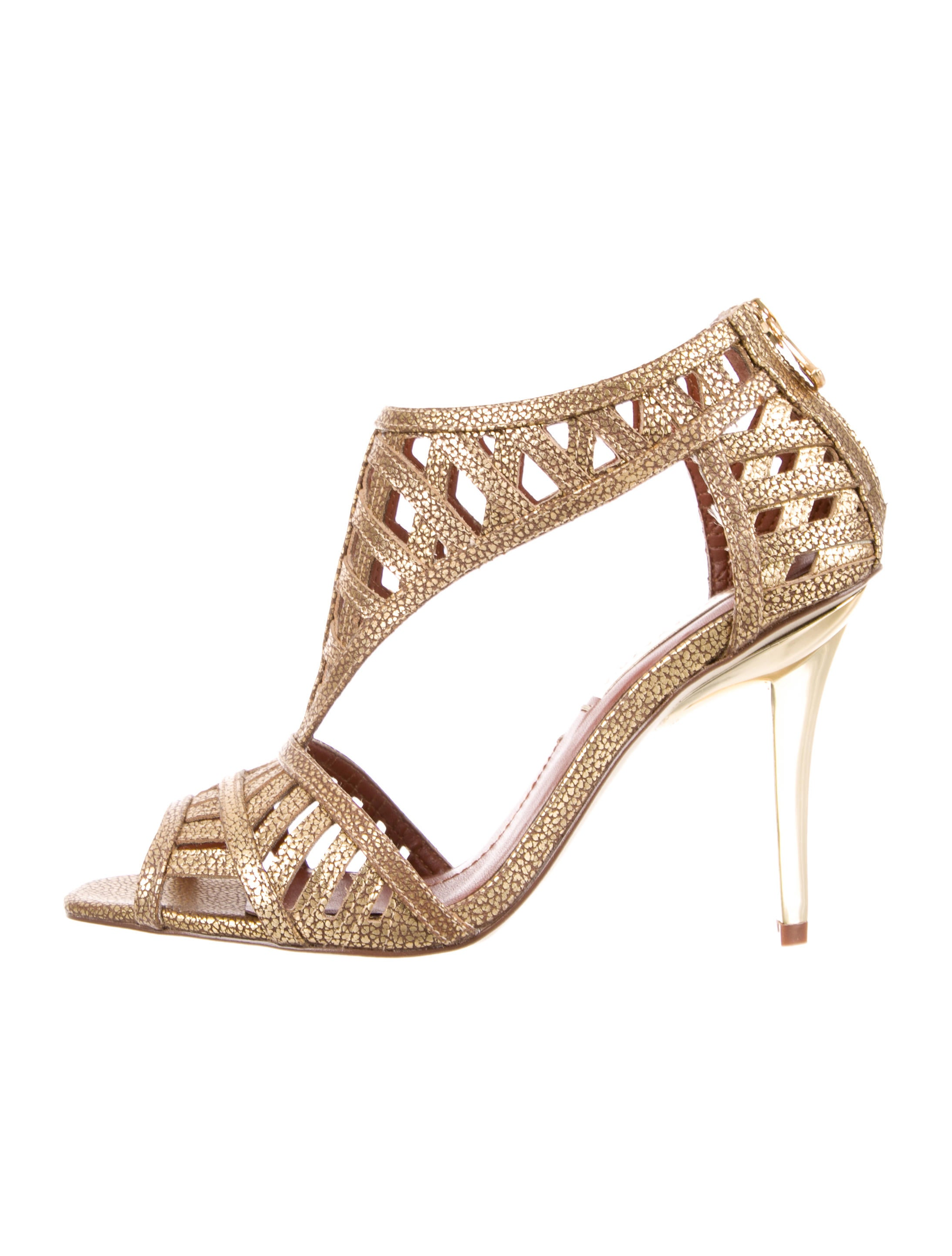 BCBG Max Azria Metallic Cage Sandals pick a best cheap price clearance sneakernews discounts online I70yQh