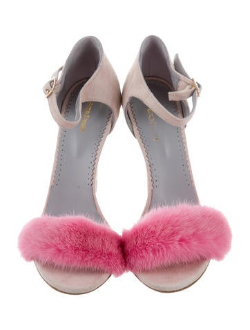 Blood & Honey Mrs Right Fur-Trimmed Sandals latest for sale 89iaSvqM