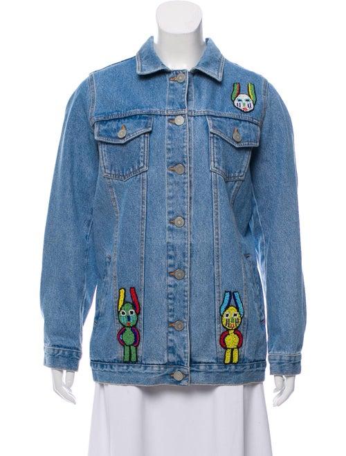 Blood & Honey Casual Embellished Jacket blue