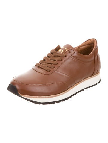 Beyene Leather Low-Top Sneakers free shipping good selling CuUhxK