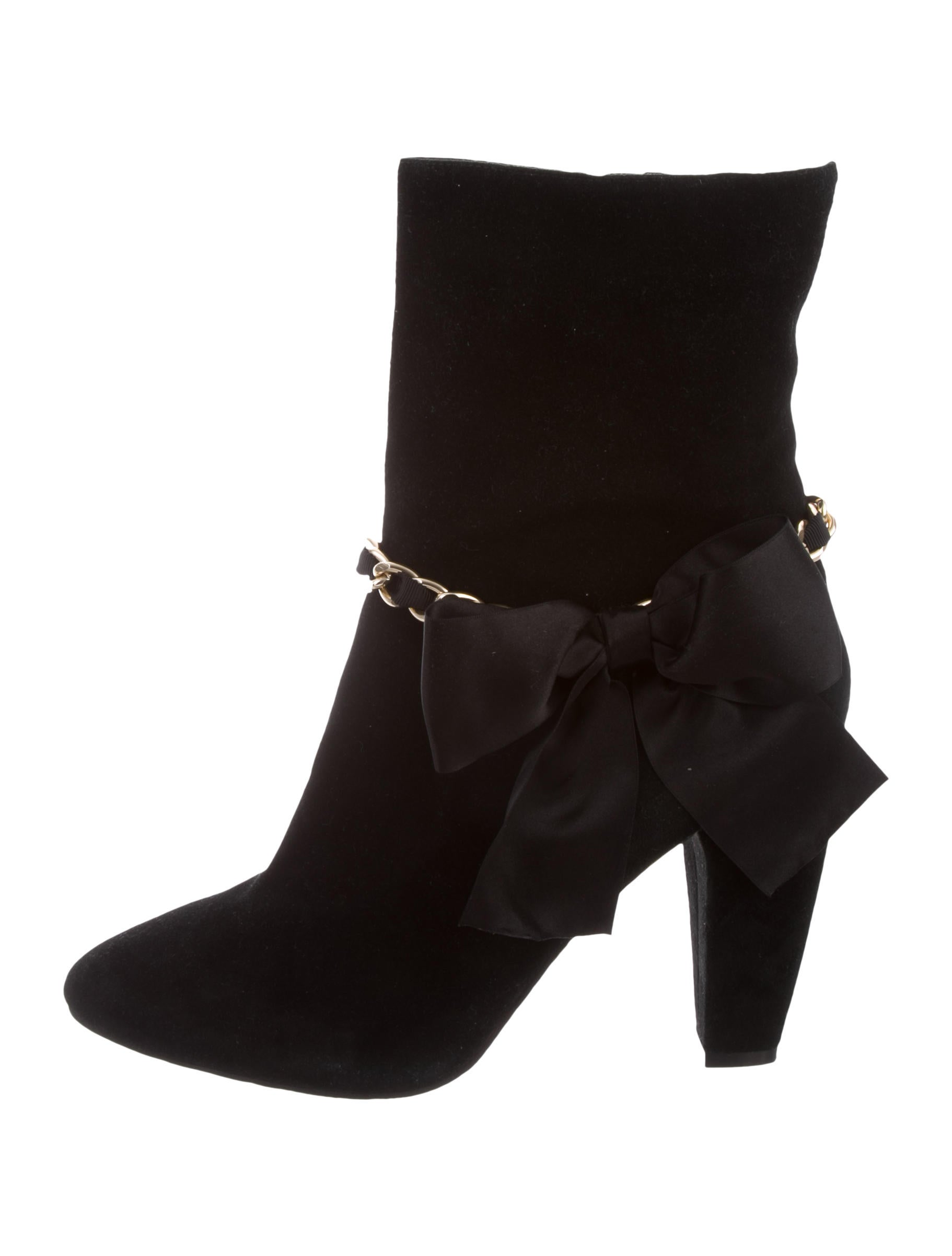 sale supply cheap price top quality Beverly Feldman Bow-Accented Mid-Calf Boots outlet 100% original lHhxsiB
