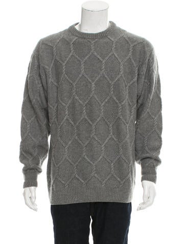 Bergdorf Goodman Geometric Pattern Wool Sweater None