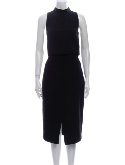 Black Halo Skirt Suit Black
