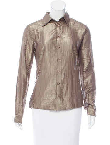 Bui by Barbara Bui Long Sleeve Button-Up Top None