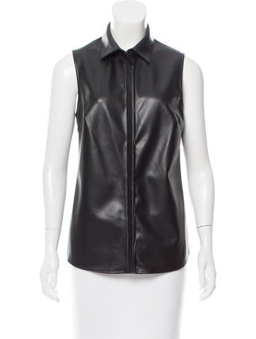 Bailey 44 Faux Leather Sleeveless Top w/ Tags None