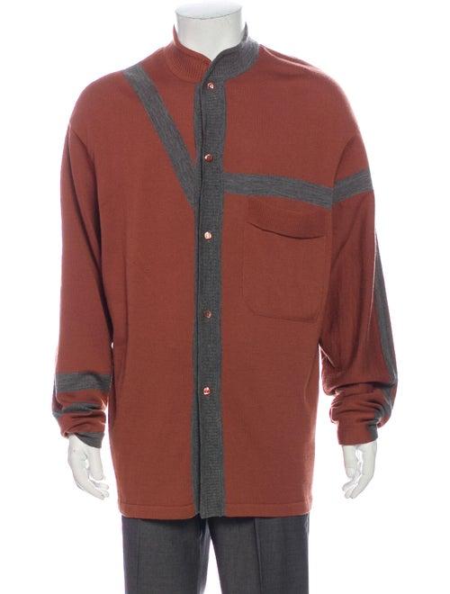 Dirk Bikkembergs Wool Striped Cardigan Wool