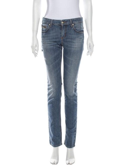 Dirk Bikkembergs Mid-Rise Straight Leg Jeans Blue