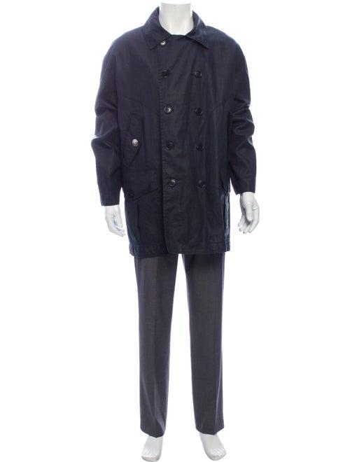 Dirk Bikkembergs Linen Jacket Blue