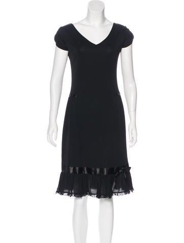 Blugirl Ruffle-Accented A-Line Dress None