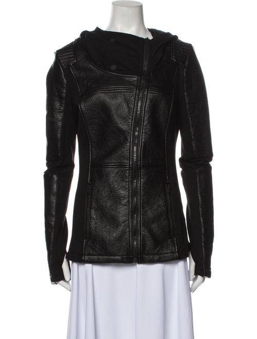 Blanc Noir Biker Jacket Blanc
