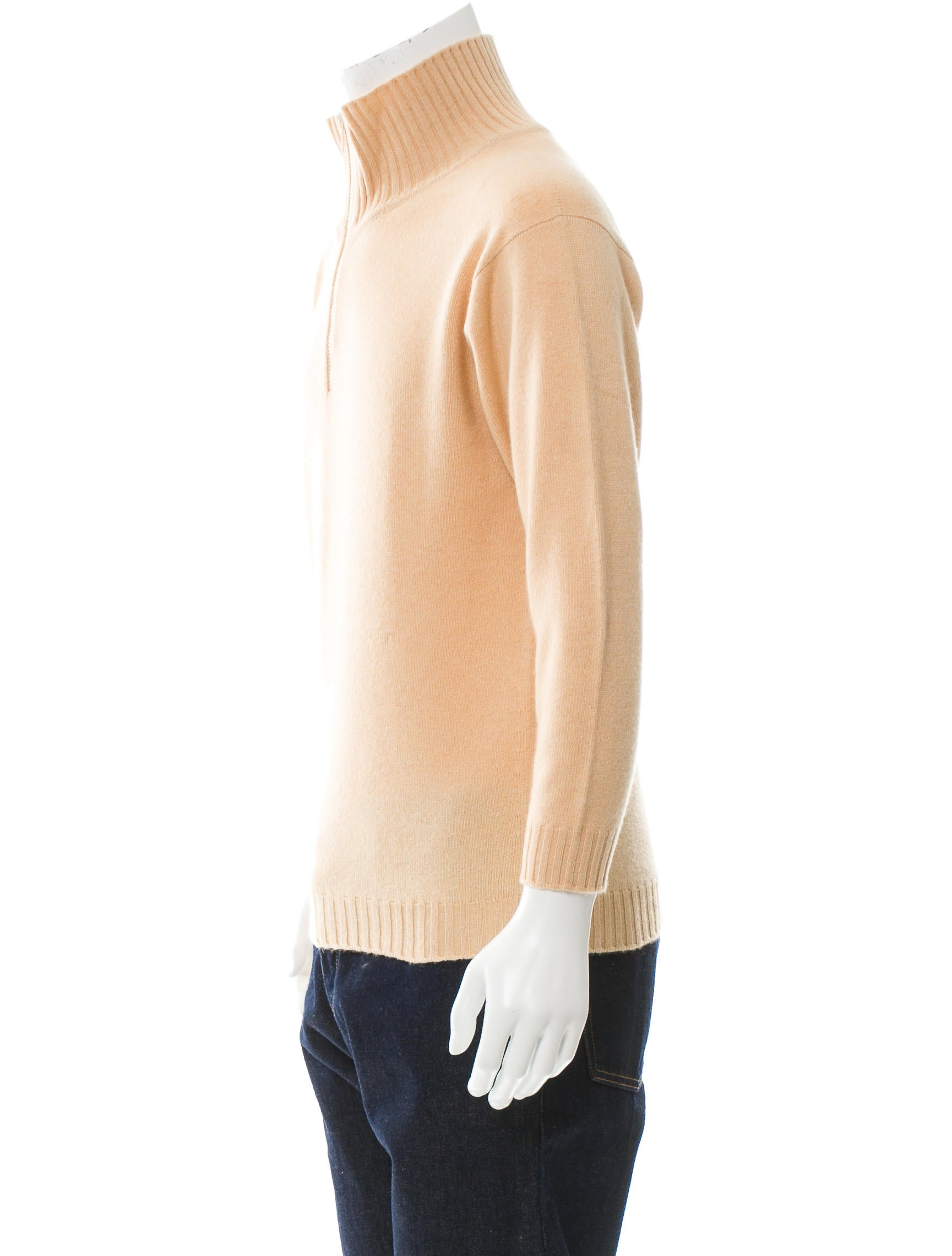 Ballantyne Cashmere Half-Zip Sweater - Clothing - WBLTY20001 | The RealReal
