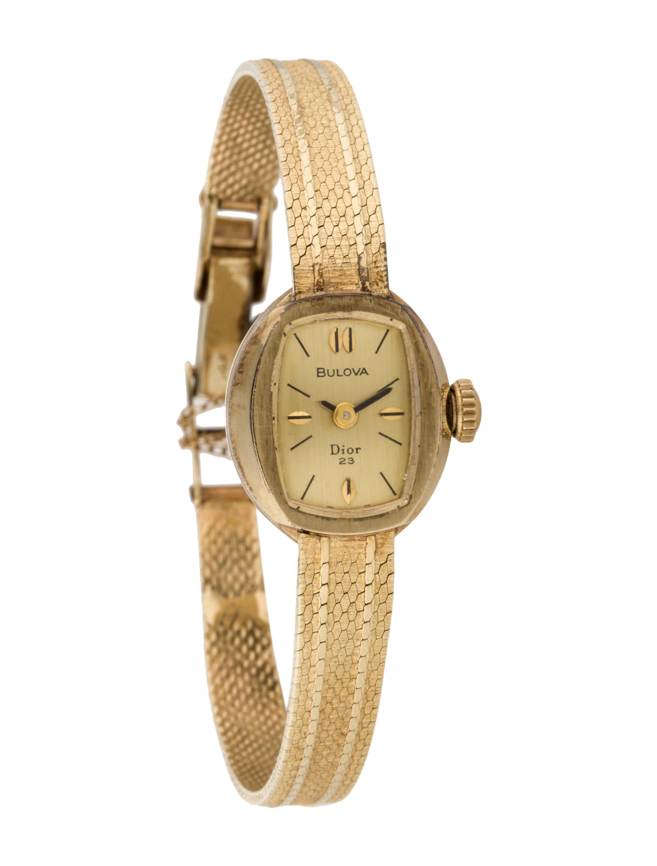 Bulova for christian dior watch bracelet wblva20030 the realreal for Christian dior watches