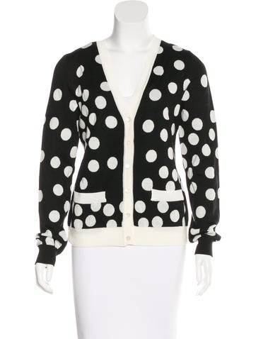 Boutique Moschino Wool Polka Dot Cardigan w/ Tags None