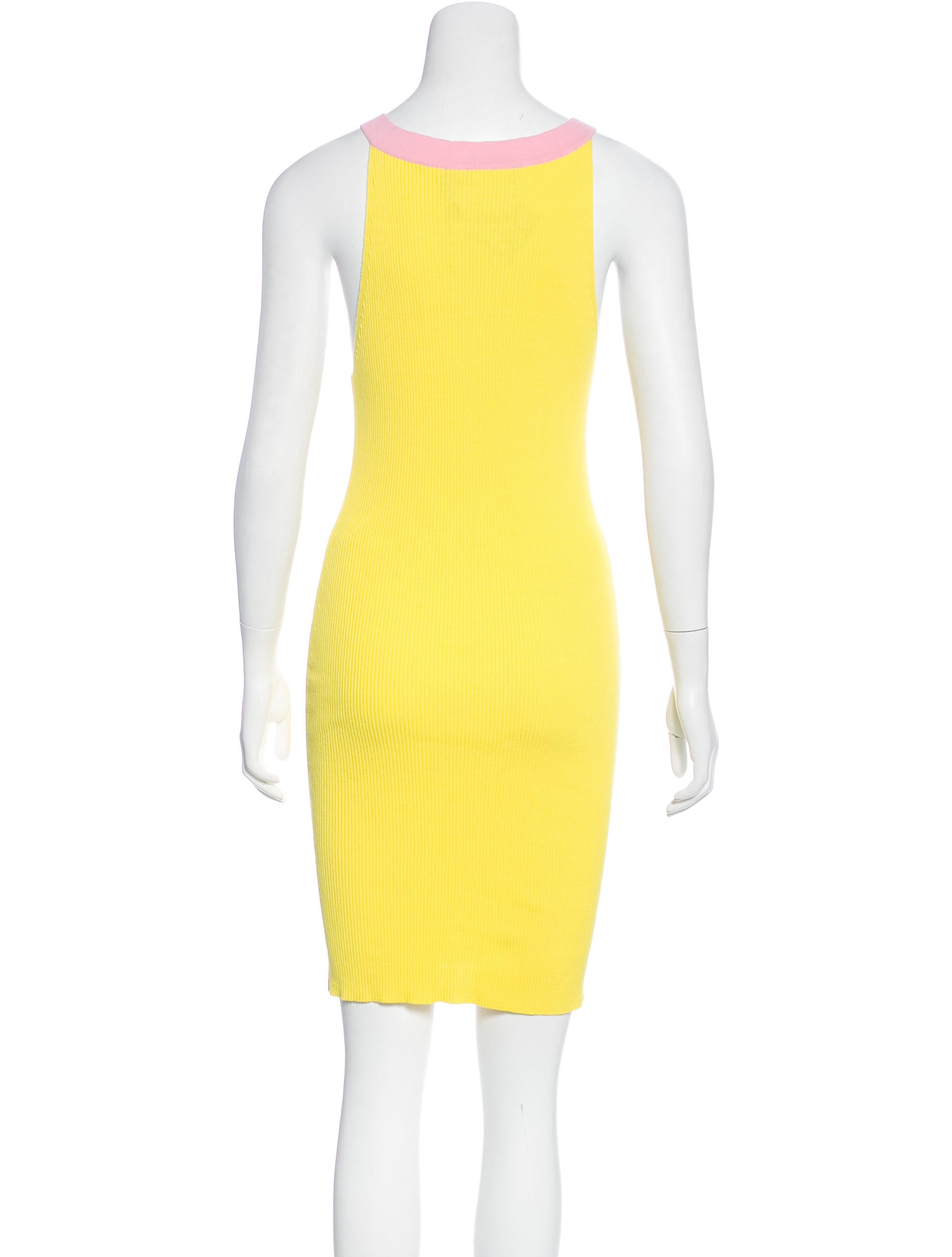 Boutique moschino rib knit sleeveless dress w tags for Boutique labels clothing