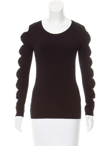 Boutique Moschino Cutout Bow Sweater w/ Tags None