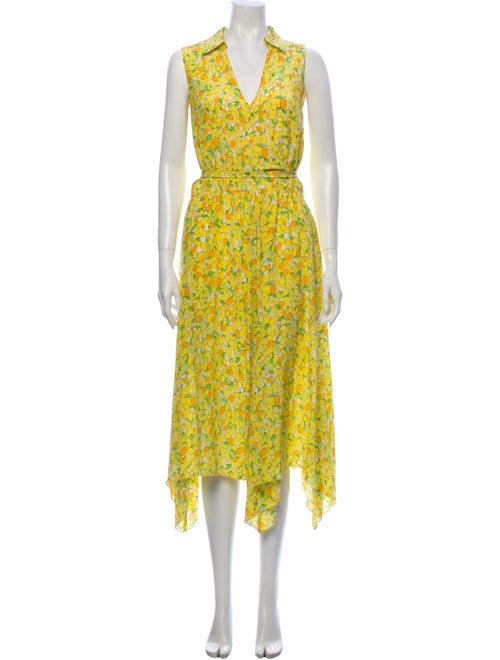 Boutique Moschino Silk Long Dress Yellow