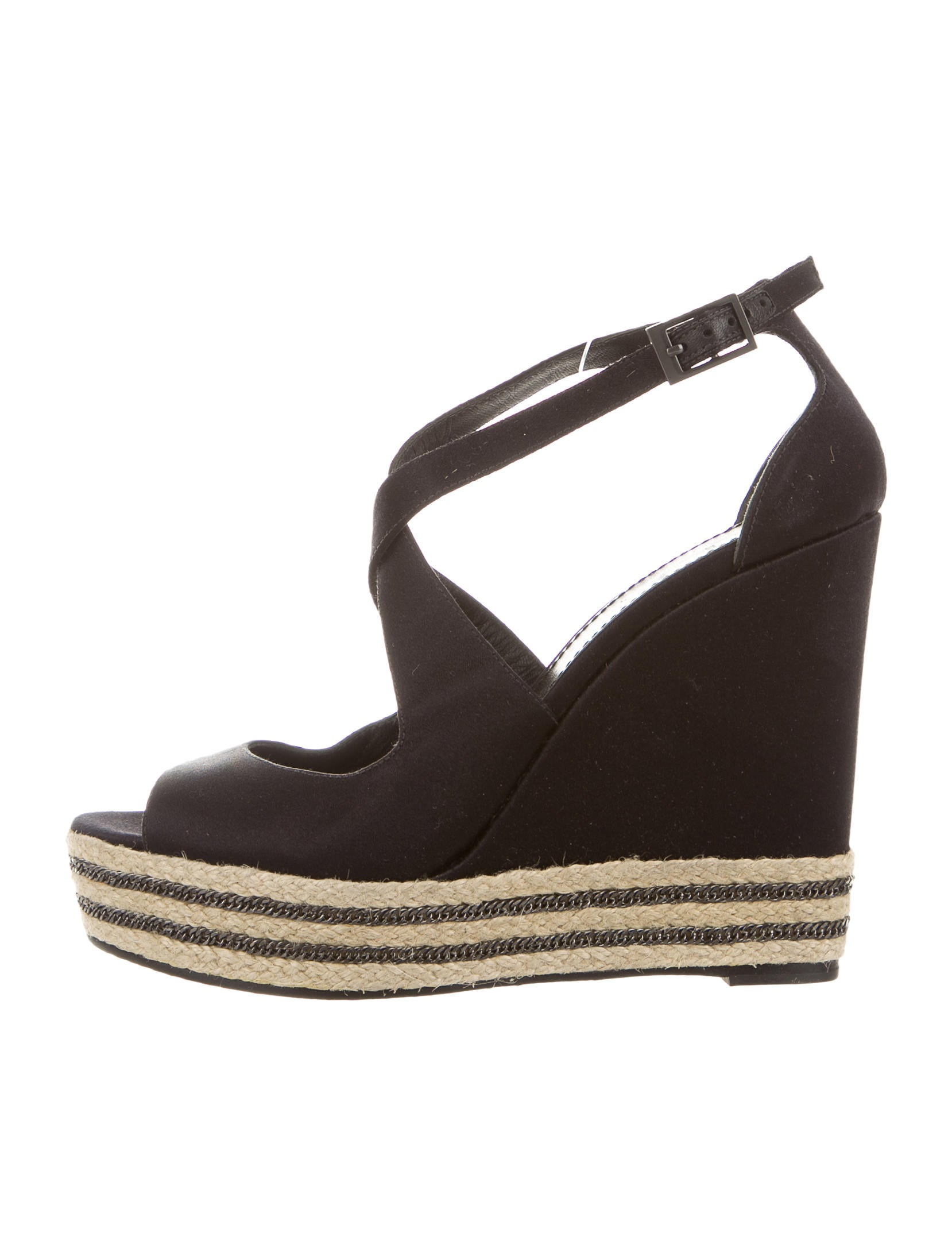b brian atwood satin wedge sandals shoes wbn21724