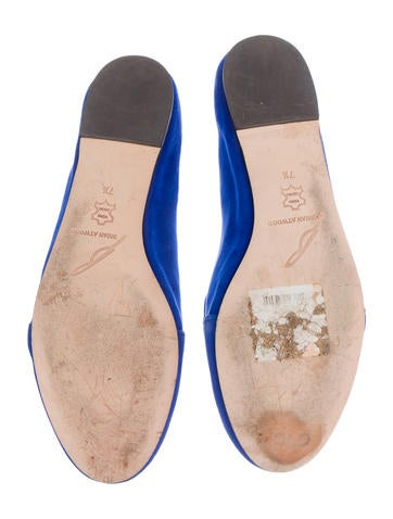 Round-Toe Suede Flats