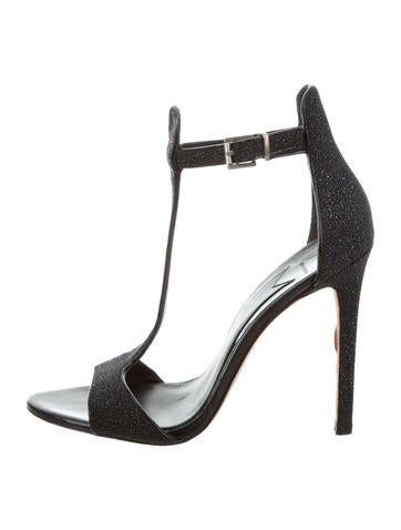 B Brian Atwood Goosebump T-Strap Sandals None