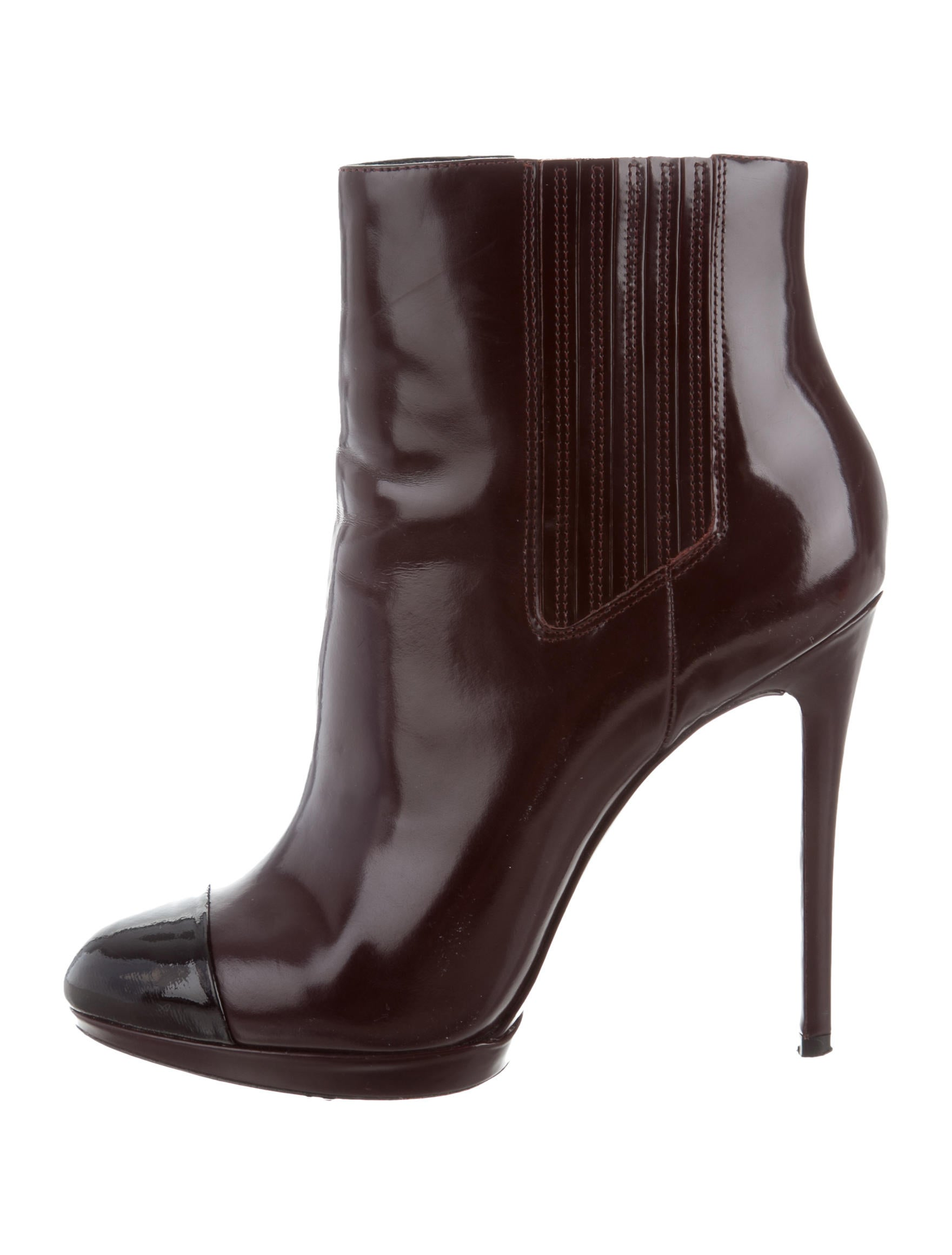 shop offer for sale authentic sale online B Brian Atwood Cap-Toe Leather Ankle Boots great deals for sale for sale very cheap PSXOqoUH1