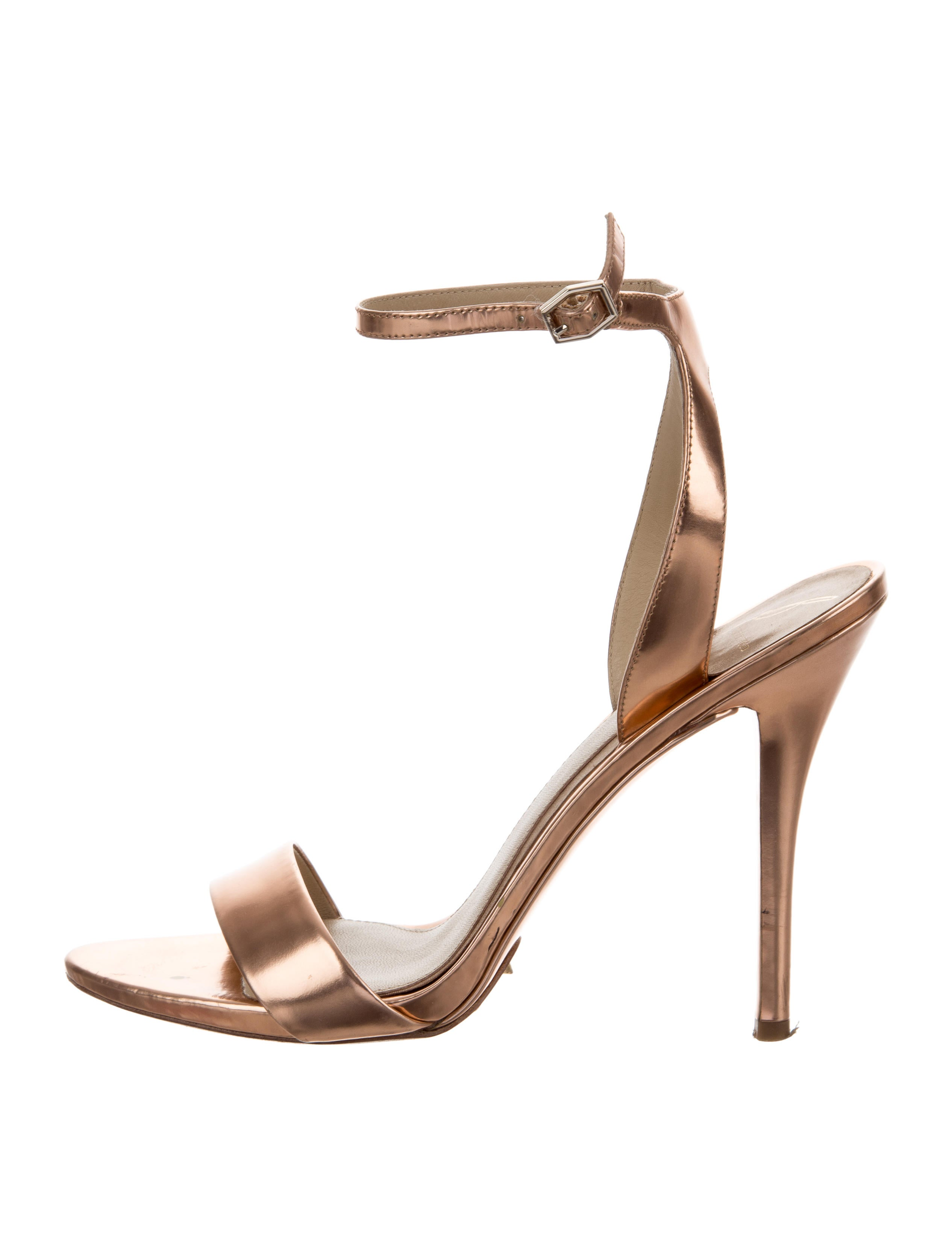 clearance really Brian Atwood Metallic Ankle Strap Sandals sale finishline sale best store to get cheap 2014 unisex 8CKEnccXA