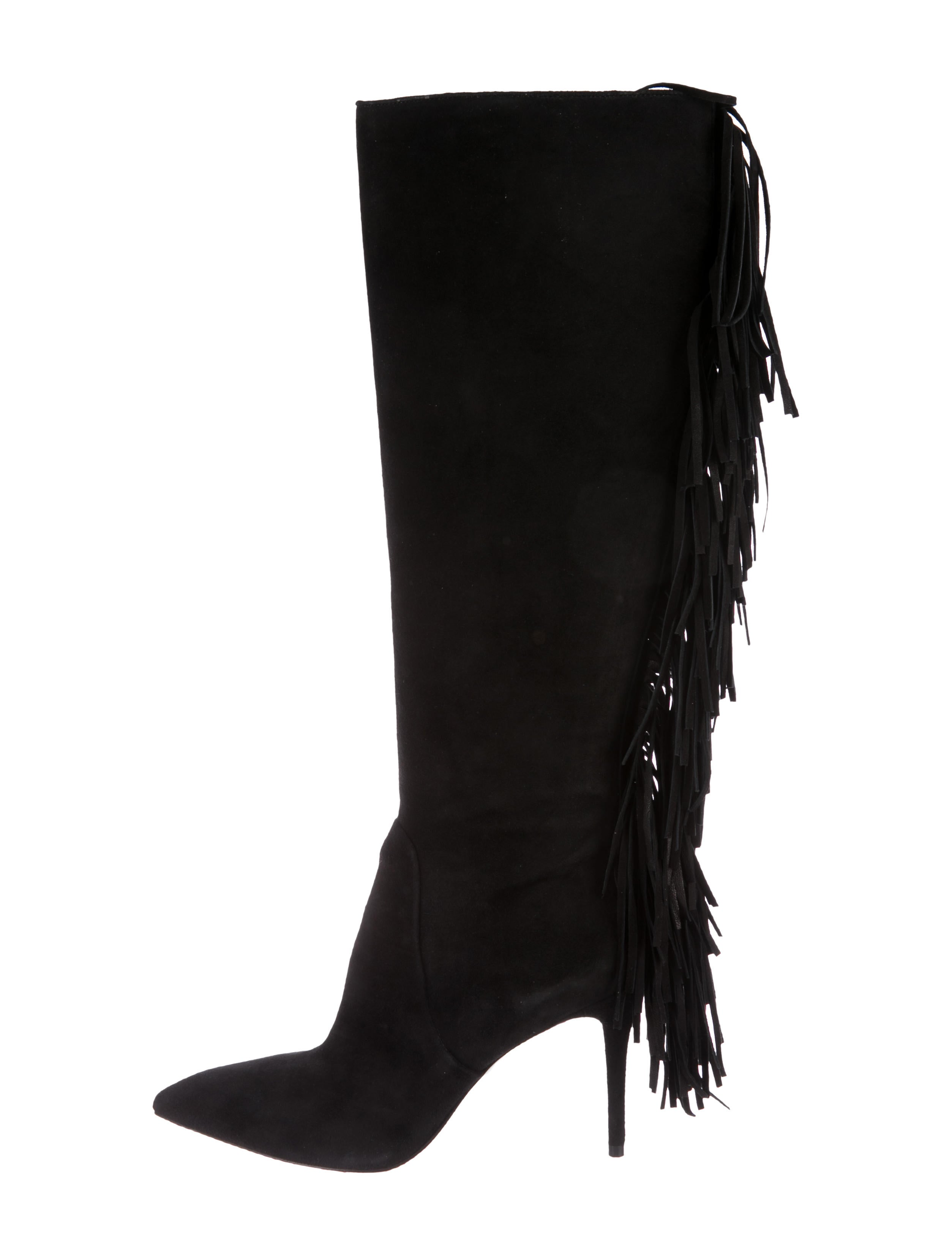 marketable cheap price B Brian Atwood Suede Fringe-Accented Boots w/ Tags release dates sale online visa payment H81eRF