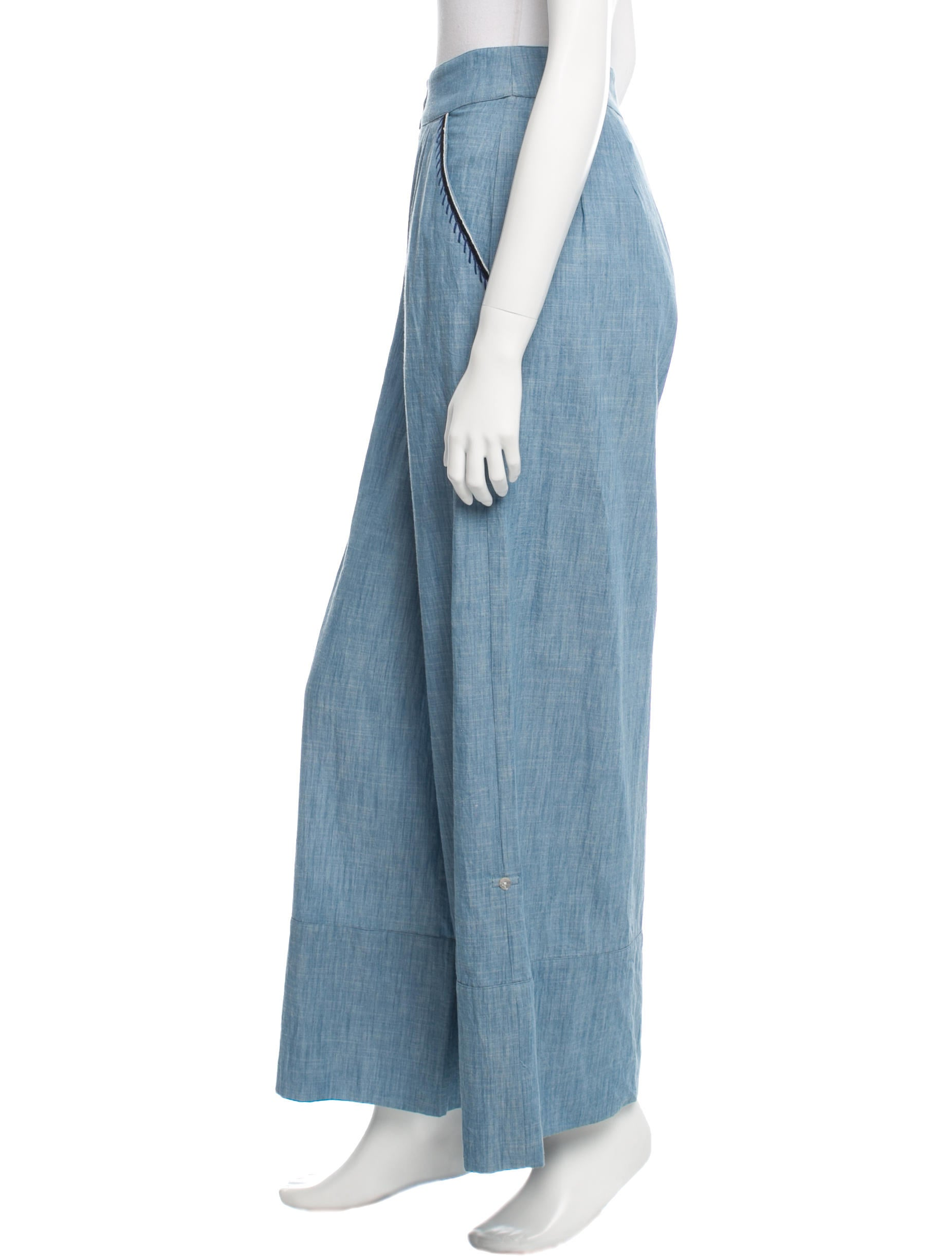 Banjanan chambray garbo pants clothing wbnjn20416 for Chambray jeans