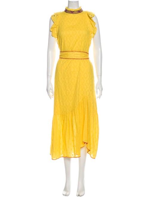Banjanan Turtleneck Long Dress Yellow