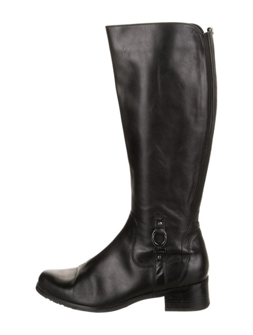 blondo Leather Riding Boots Black