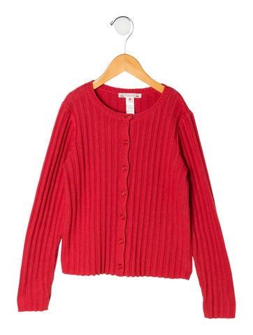 Bonpoint Girls' Rib Knit Cardigan None