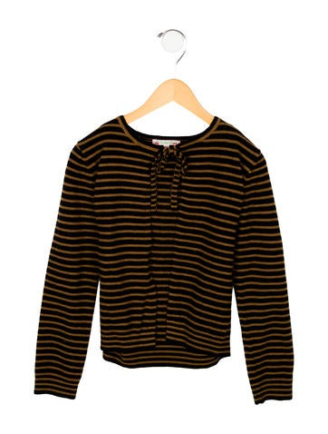 Bonpoint Girls' Wool Striped Cardigan None