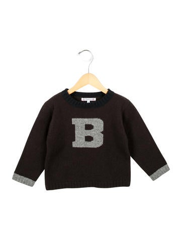 Bonpoint Boys' Patterned Crew Neck Sweater None