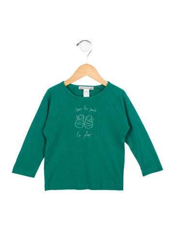 Bonpoint Girls' Rib Knit Crew Neck Top None