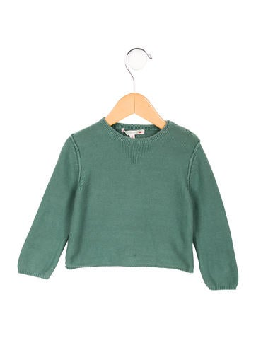 Bonpoint Girls' Crew Neck Knit Sweater None
