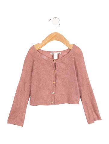 Bonpoint Girls' Cropped Linen Cardigan None