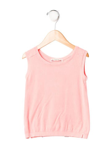 Bonpoint Girls' Rib Knit Sleeveless Top None