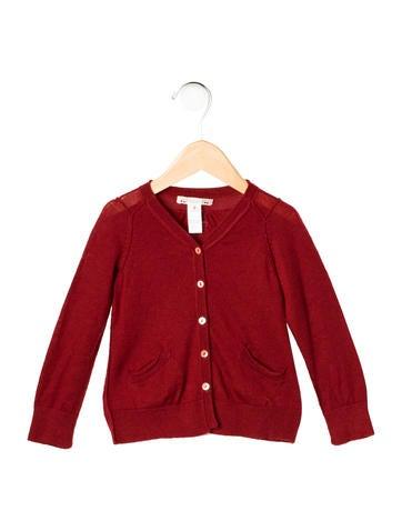 Bonpoint Girls' Wool Rib Knit Cardigan None