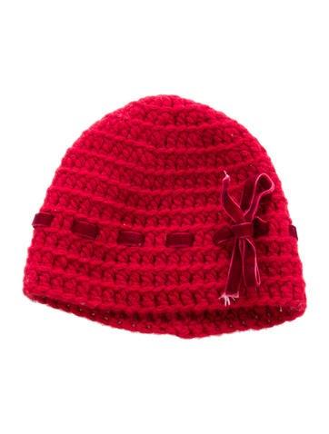 Bonpoint Girls' Velvet-Trimmed Wool Beanie None