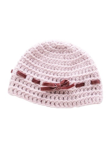 Bonpoint Girls' Velvet-Trimmed Wool Beanie None